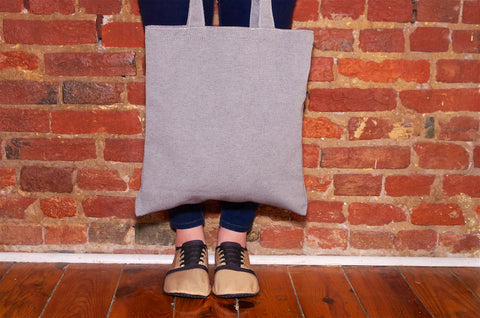 kigo footwear grey tote bag