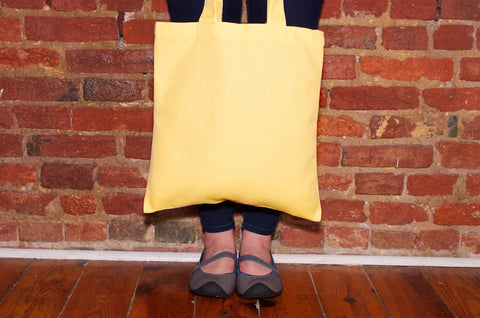 kigo footwear yellow tote bag