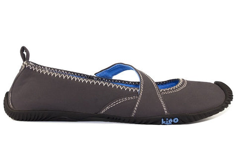 kigo flit casual mary jane shoe black light grey stitch elastic panel strap