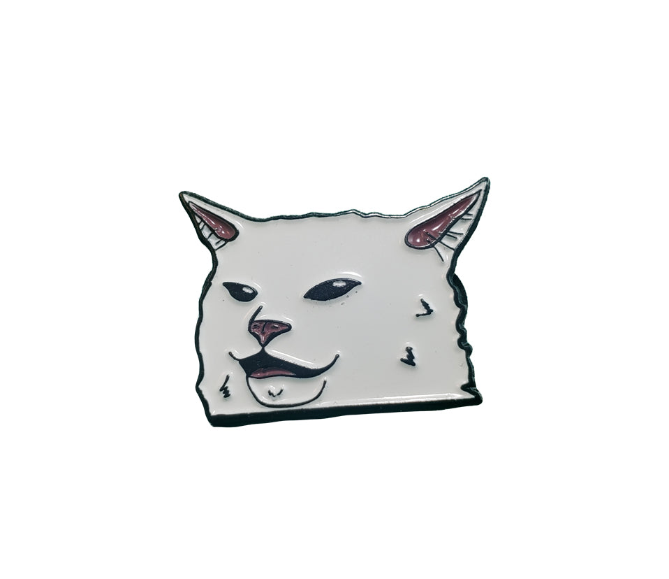 Smudge Head Enamel Pin