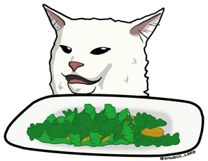 Salad Smudge Sticker