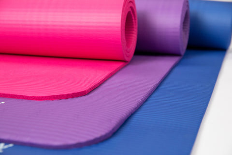 Pink Purple Blue Extra Thick TPE Eco Friendly Yoga Mats