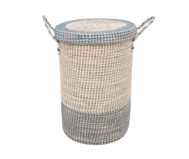 NURSERY LAUNDRY BASKET - SOFT SEAGRASS
