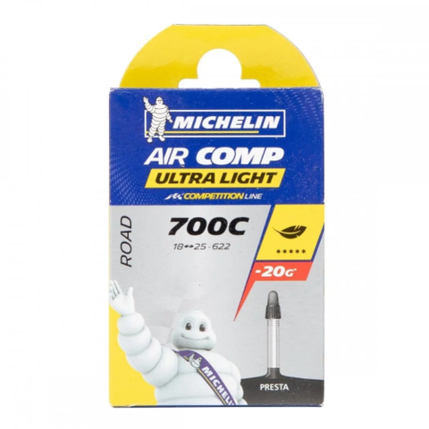 Michelin Aircomp Ultralight A1 Camera Corsa 700x18/25c Presta 60mm