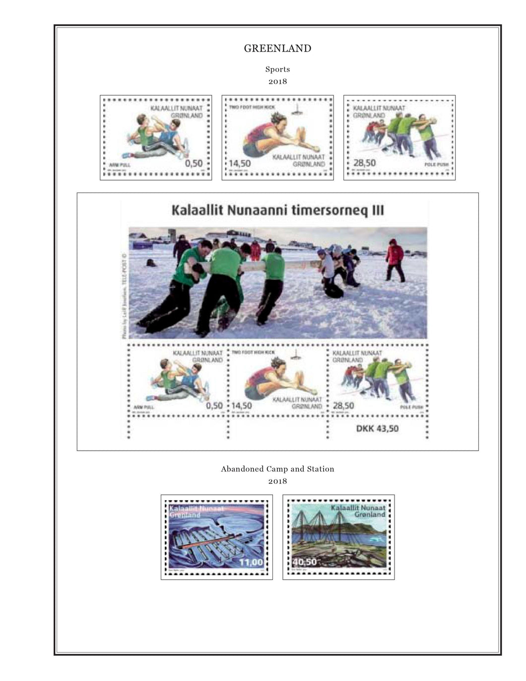 Greenland Album Pages Color Illustrated 2016-2018 Supplement PDF file