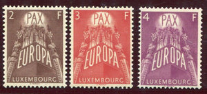 Europa CEPT 1957 Pax United Europe MNH Luxembourg Sc. 329-331