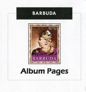 Barbuda - Stamp Album 1922-2000 Album Pages Classic Stamps - Digital Download
