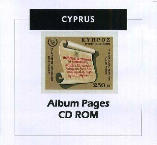 Cyprus - Stamp Album 1880-2016 Color Illustrated Album Pages - Digital Download