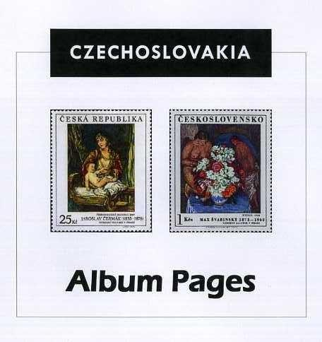 Czechoslovakia Stamp Album 1918-2016 Color Illustrated Album Pages -Digital Download