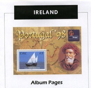 Ireland - Stamp Album 1873-2015 Color Illustrated Album Pages - Digital Download