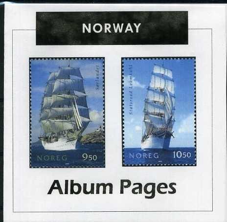 Norway - Stamp Album 1855-2016 Color Illustrated Album Pages - Digital Download