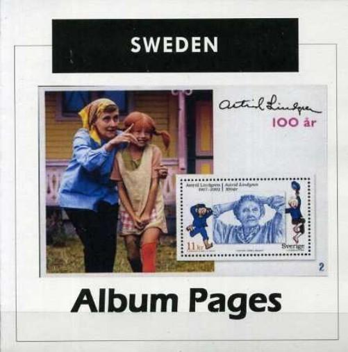 Sweden Stamp Album 1855-2017 Color Illustrated Album Pages - Digital Download