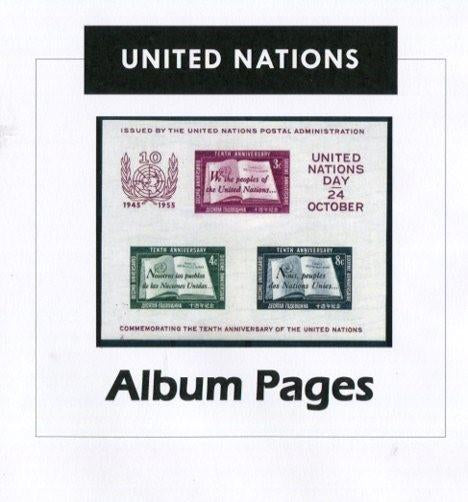 United Nations Stamp Album1951-2017 Color Illustrated Album Pages - Digital Download