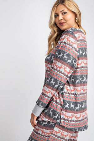 Long Sleeve Christmas Top - Curvy