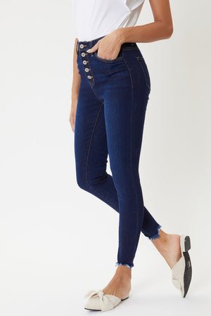 KanCan High Rise Button Fly Skinny Jean