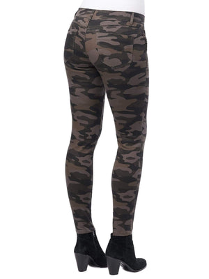 "Democracy Stretch Camouflage ""Ab""solution® Side Zip Jegging Pant"