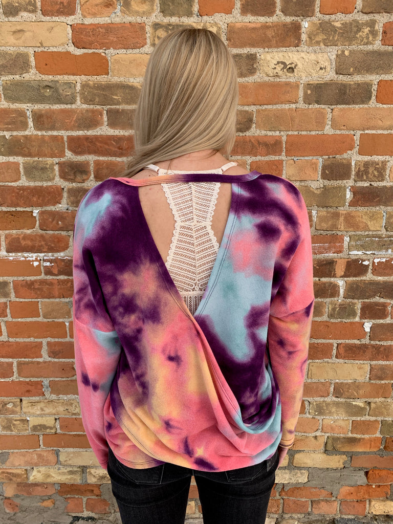 Tie Dye Open Back Top