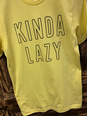 Kinda Lazy Graphic T-Shirt