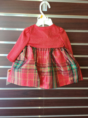 Christmas Plaid Dress - Baby