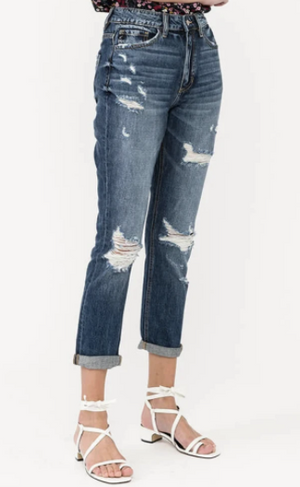 KanCan Cropped Mom Jean