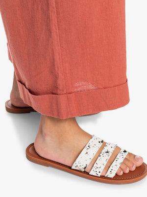Roxy Wyld Rose Leather Sandals