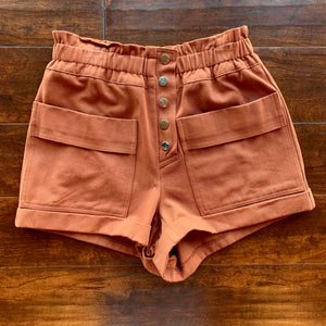 Front Pocket Twill Shorts