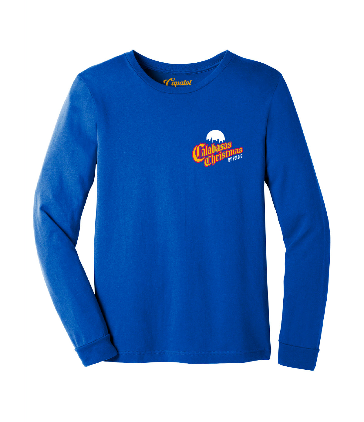Calabasas Christmas Long Sleeve Tee in Royal