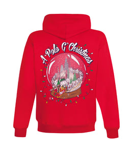 Christmas in Chicago Hooded Sweatshirt in Red