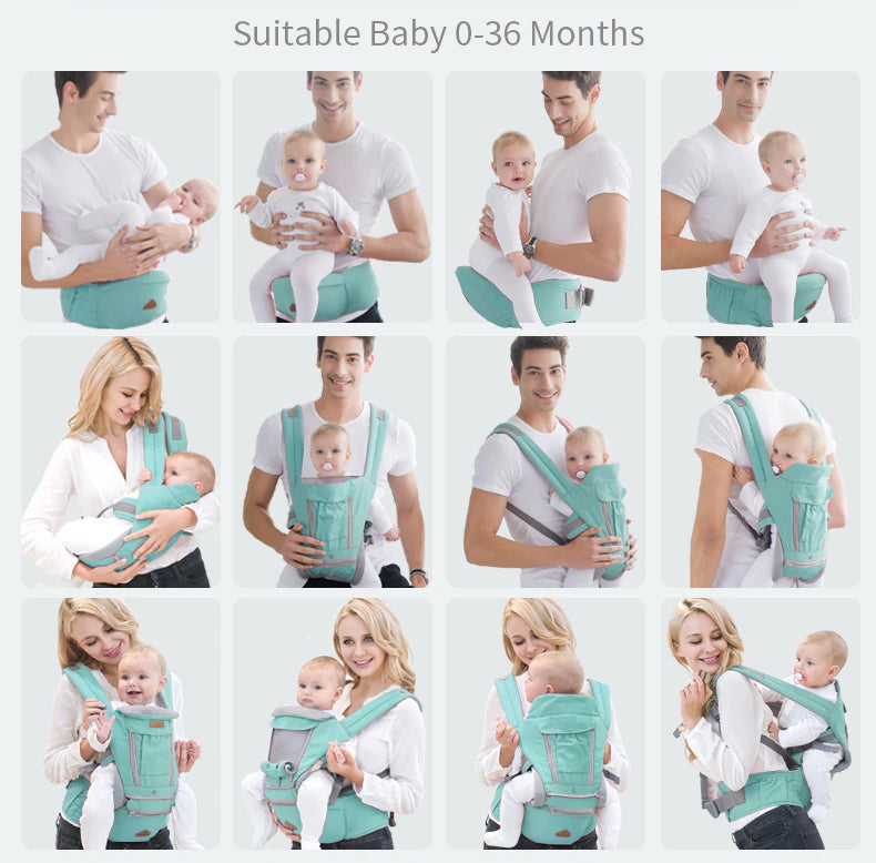 "The Ultimate ""11 Ways To Carry"" Baby Carrier"