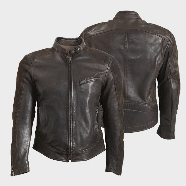 CAFÉ RACER LEATHER JACKET 7000