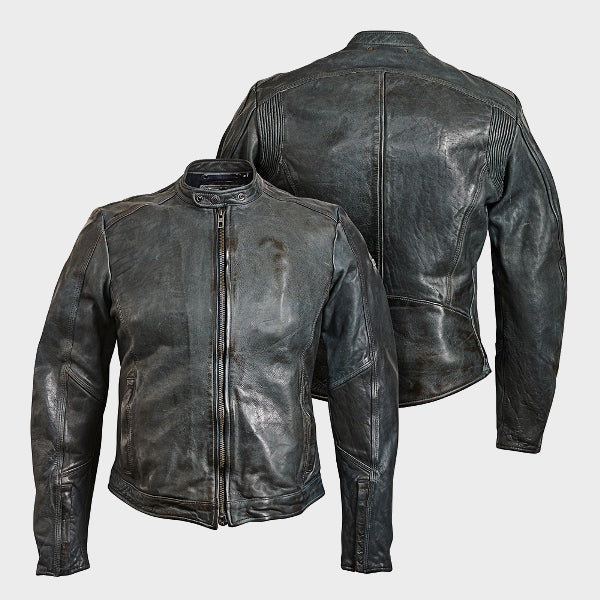 STREET LEATHER JACKET GREY 7004