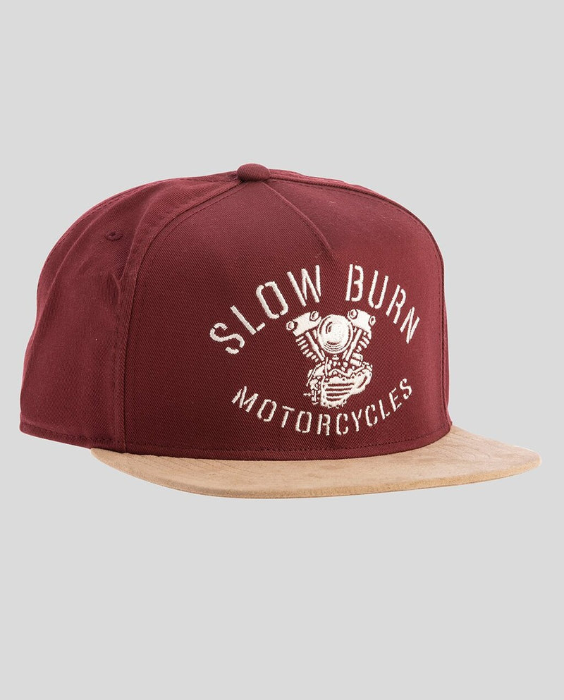 BURN SNAPBACK dark red