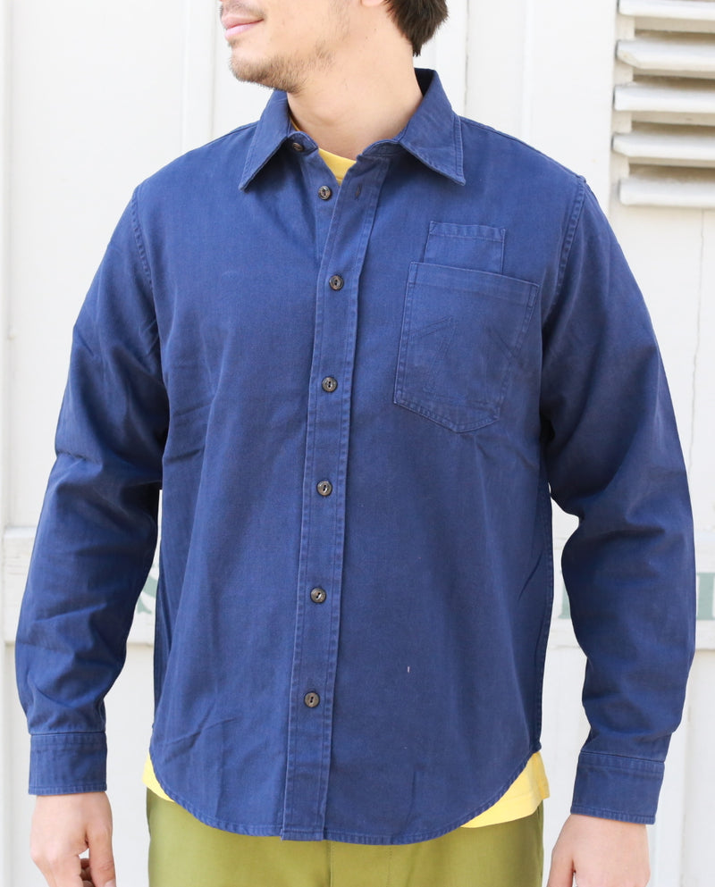 Combat Shirt HBT Worker Blue