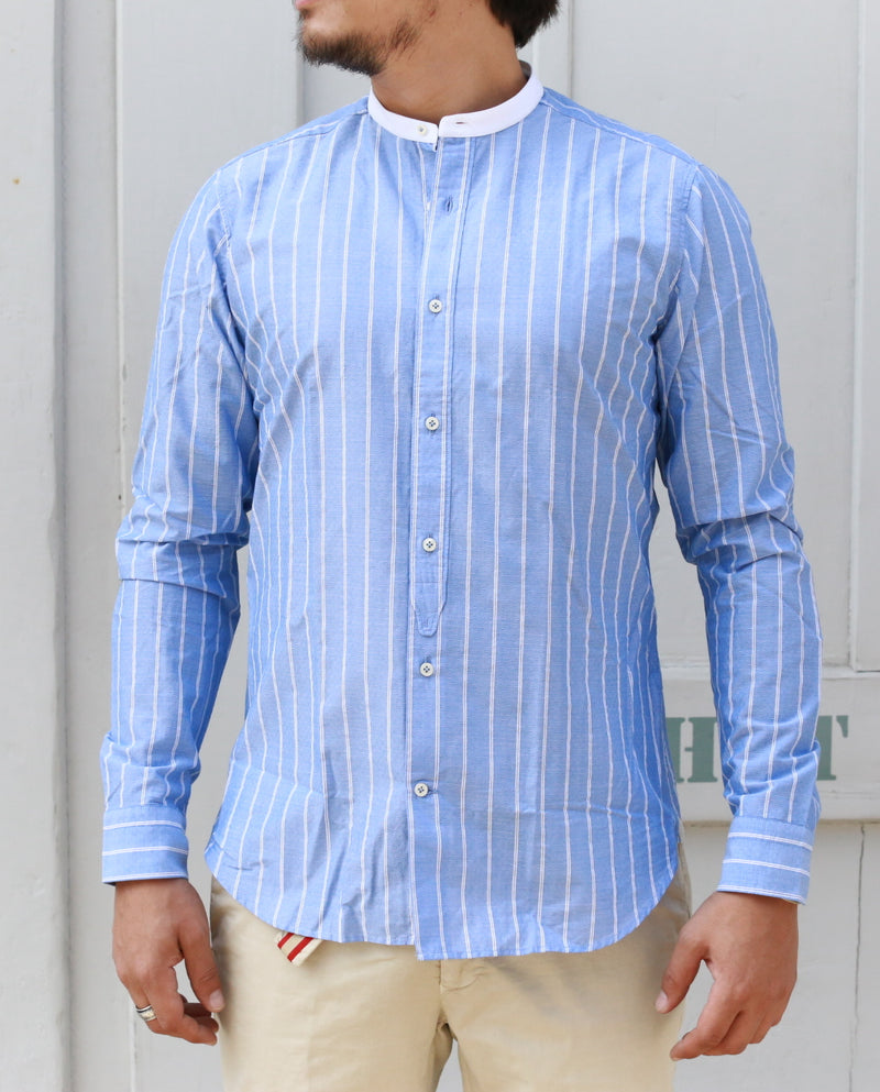 STRIPED SHIRT BLUE/WHITE slim fit