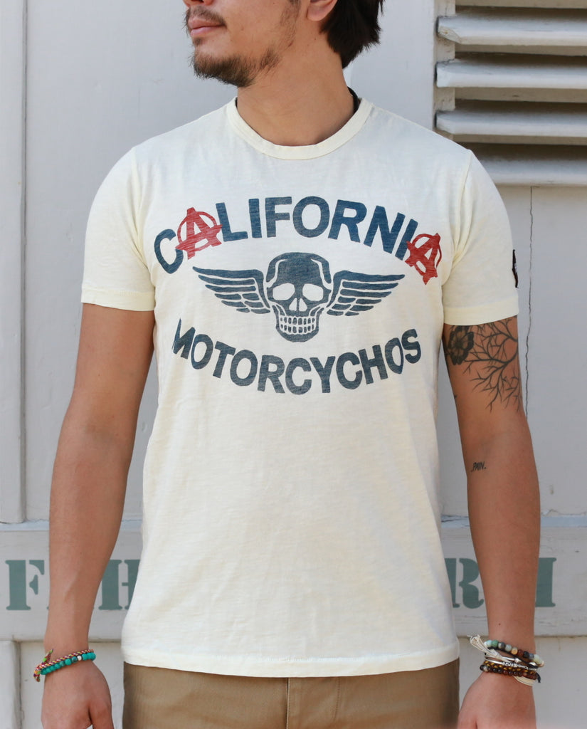CALIFORNIA MOTORCYCHOS dirty white