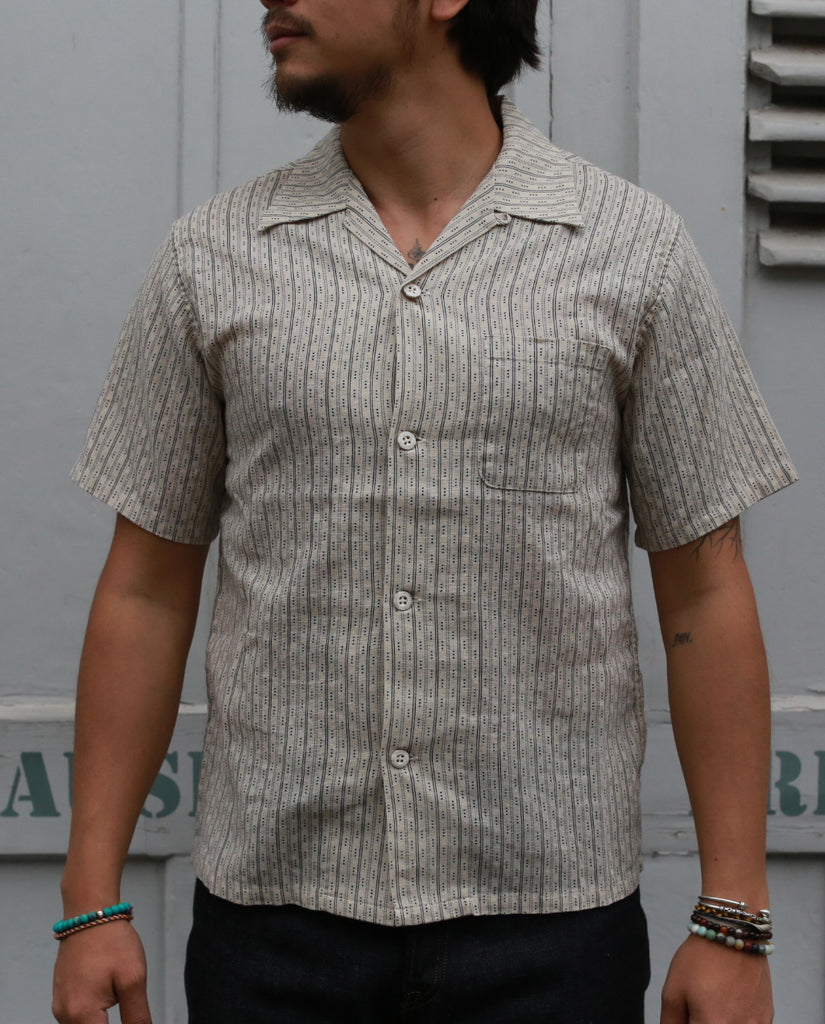 "STRIPE OPEN SHIRT"" [America Casual Work] 06-086 natural"