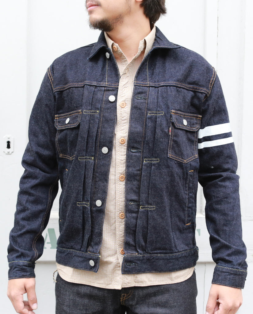03-051 12oz TYPE2 DENIM RINSED JACKET