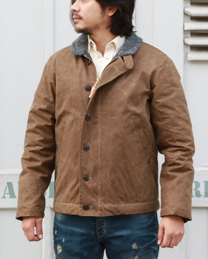 NEW DECK JACKET dark tan