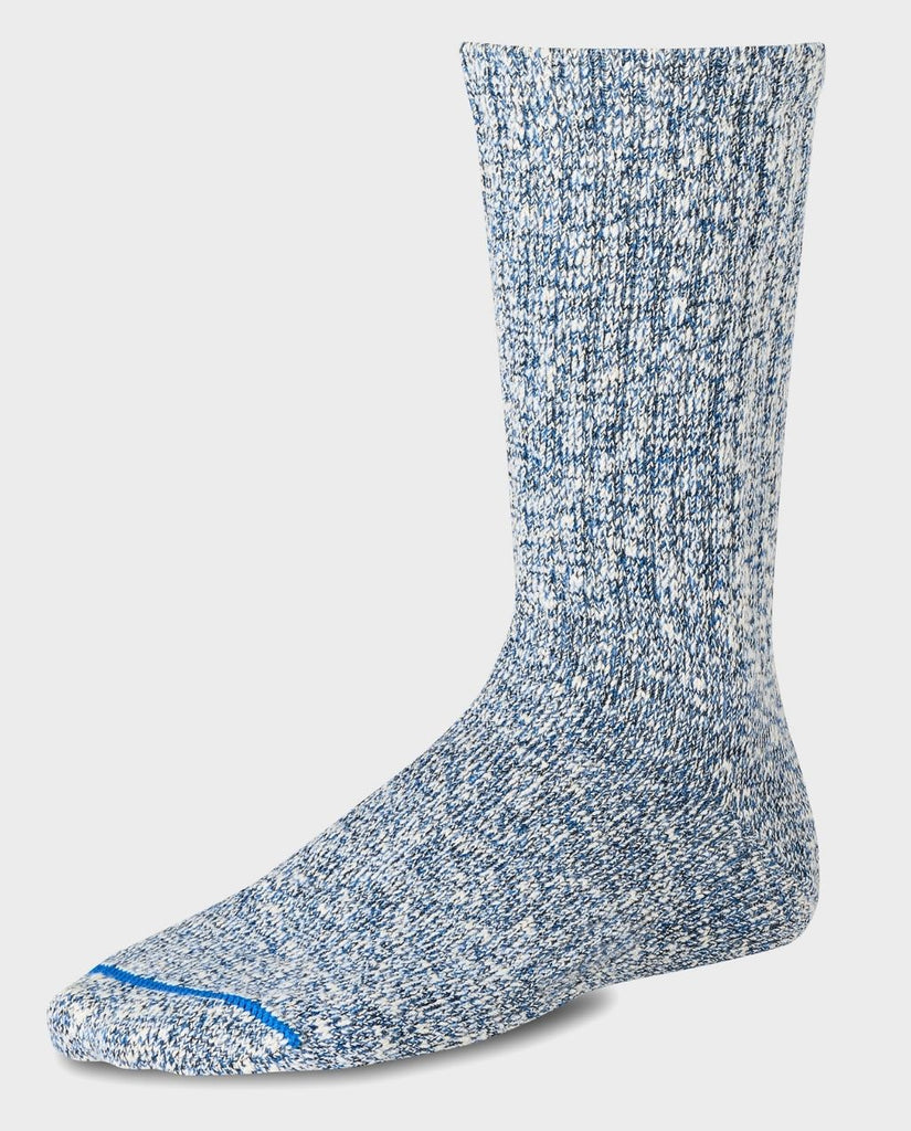 COTTON RAGG CREW SOCK blau melierte