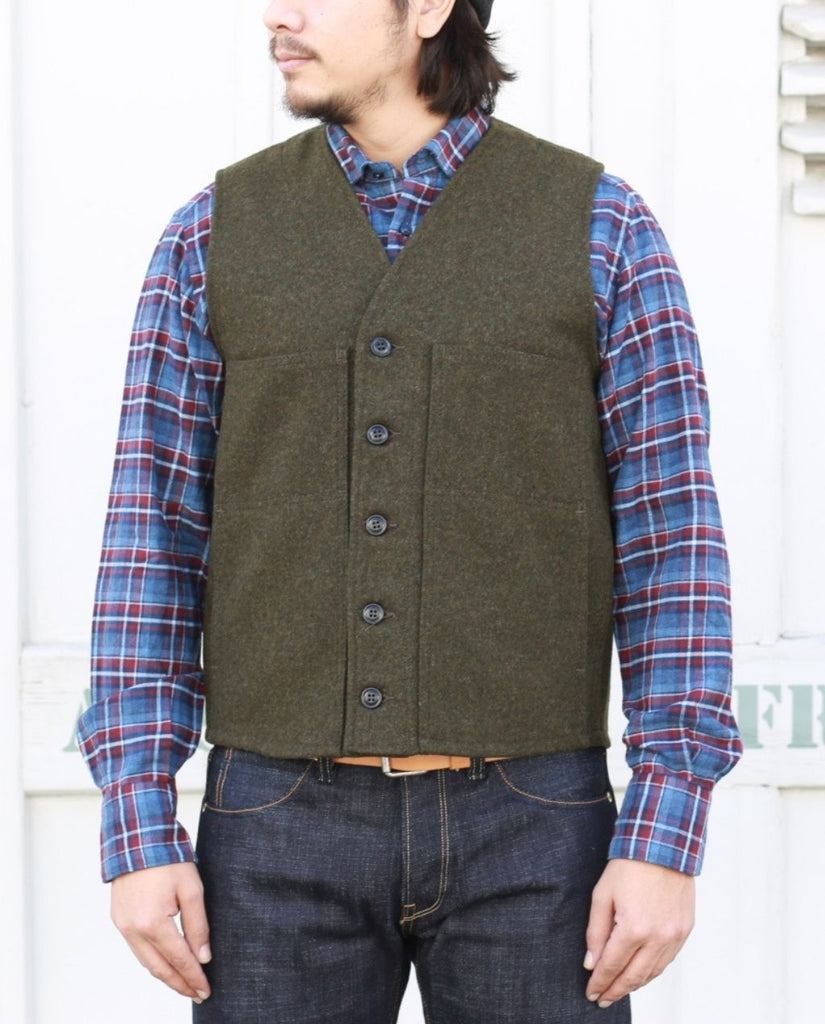 MACKINAW WOOL VEST FOREST GREEN