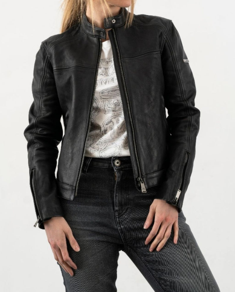 GINGER LEATHER JACKET BLK