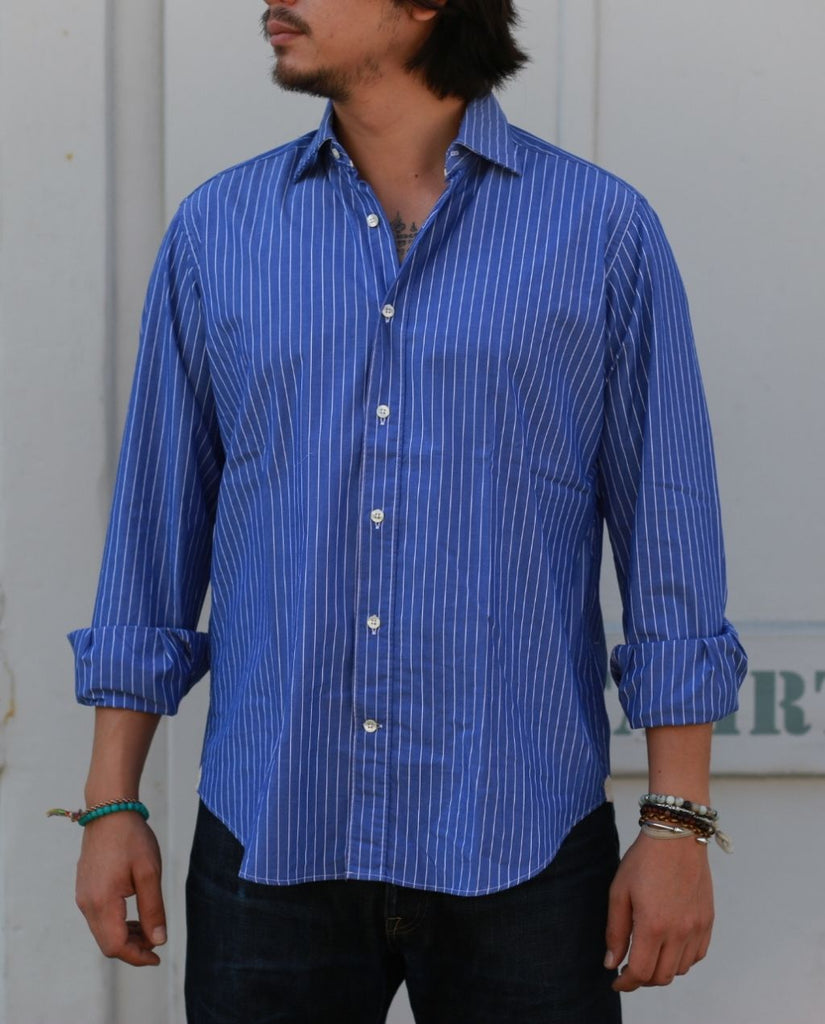 LIGHT BLUE SHIRT WITH STRIPES