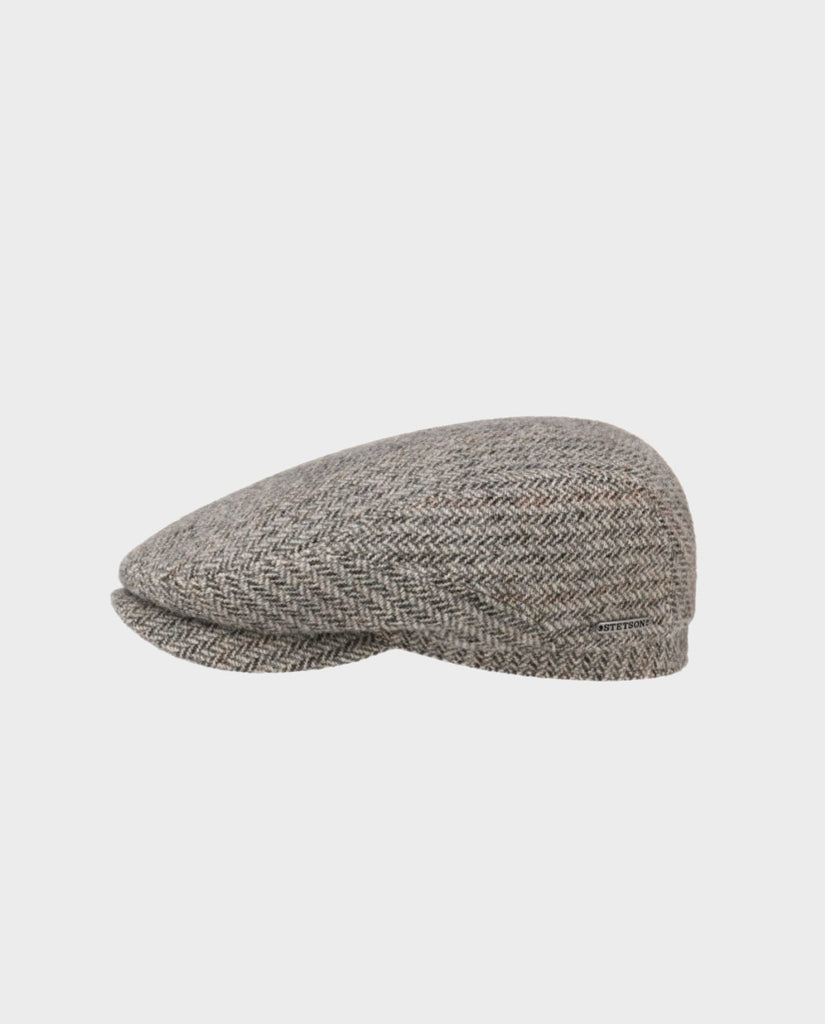 HASTINGS VIRGIN WOOL FLATCAP GRAU