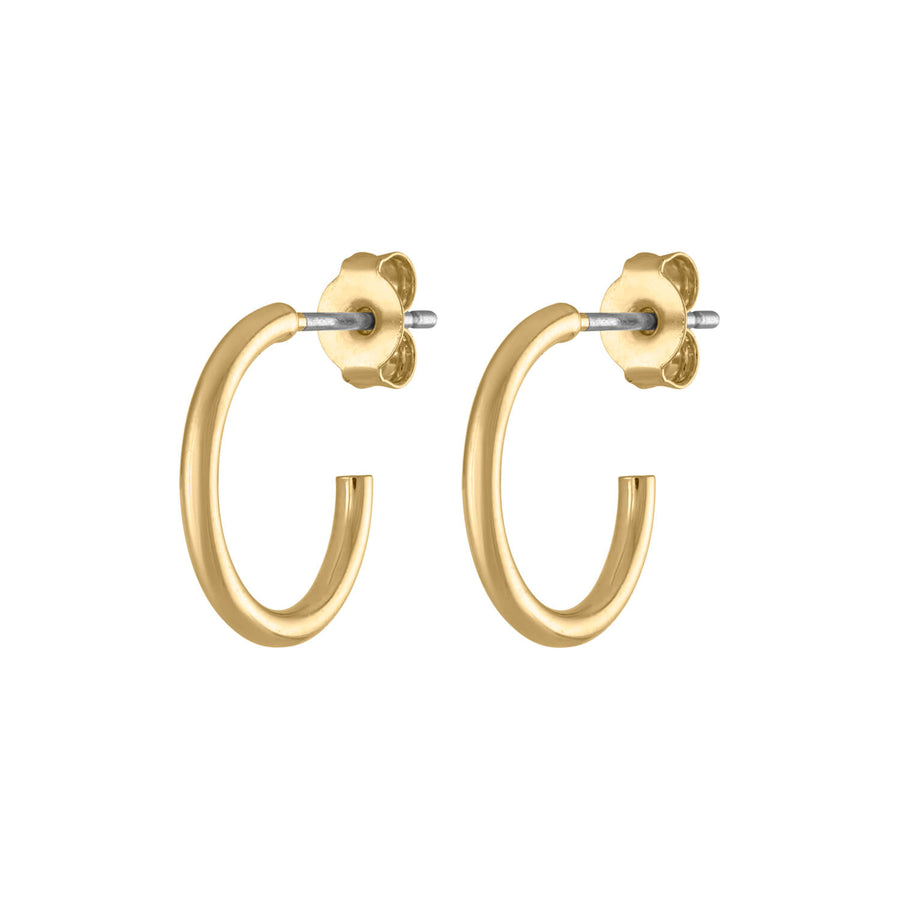 "0.5"" Classic Gold Hoops at Maison Miru Jewelry @maisonmiru"