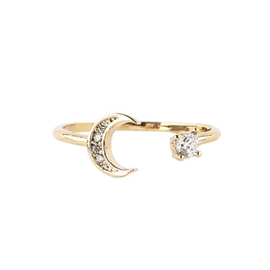 Moon and Star Ring at Maison Miru Jewelry @maisonmiru