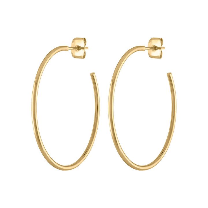 "1"" Classic Gold Hoops at Maison Miru Jewelry @maisonmiru"