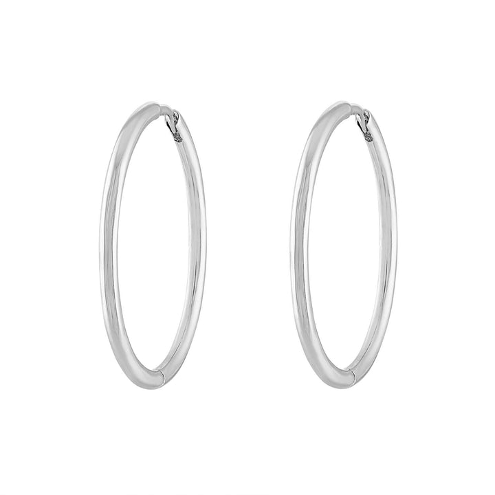"Classic 1"" Hoops in Sterling Silver"