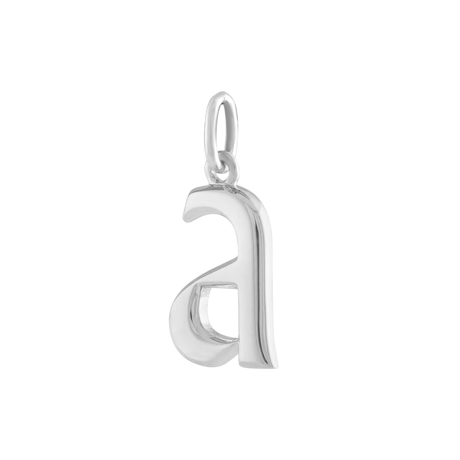 """A"" Charm in Sterling Silver"