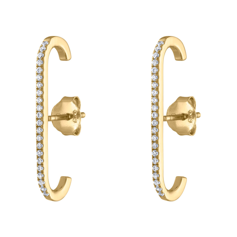 Celestial Suspender Earrings in Gold Vermeil