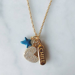 Chill Pill in Gold Vermeil on Necklace